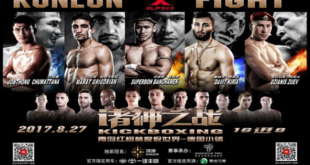 Fight Card voor Kunlun Fight 65