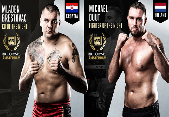 Duut en Brestovac winnen GLORY 45 fight night awards!