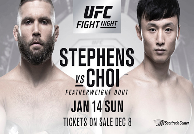 Uitslagen UFC Fight Night 124 Stephens vs Choi