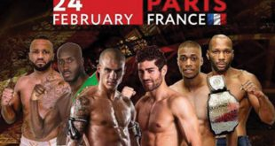Darryl Sichtman en Freddy Kemayo de ring in op ACB KB 13 Parijs