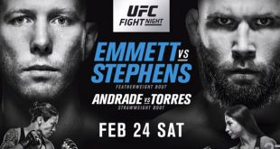 Uitslagen UFC on FOX 28: Emmett vs. Stephens