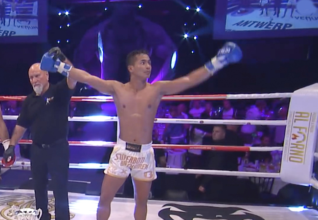Superbon Banchamek domineert tijdens de Al Shiraa 2018 Grand Prix