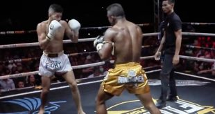 Muay Thai legende Buakaw Banchamek sloopt tegenstander (video)