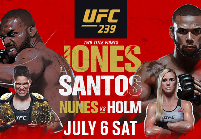 Uitslagen UFC 239: Jones vs. Santos