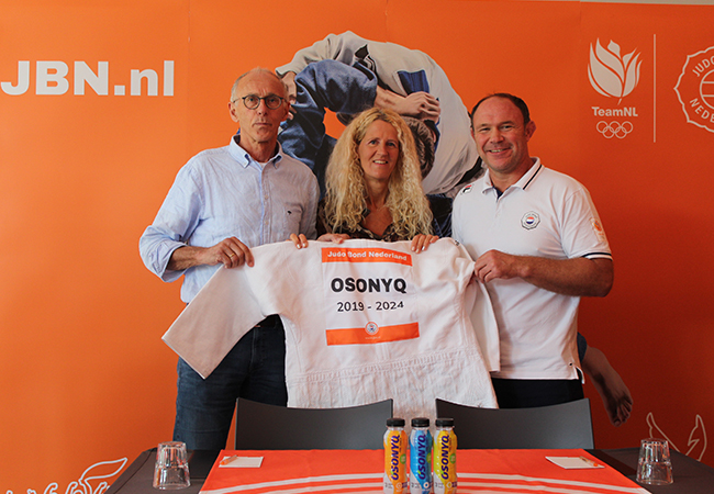 Judo Bond Nederland partnered met OSONYQ Sports Drinks